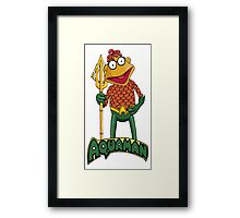 Scooter the Aquaman Framed Print