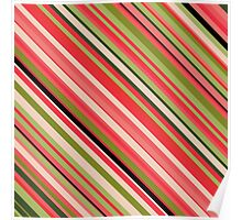 Watermelon-Inspired Stripes Poster