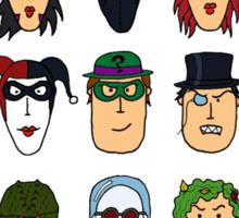 Batman Heroes & Villains Sticker