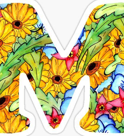 "Floral Letters ""M"" Sticker"