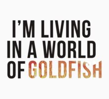 Living in a World of Goldfish - Mycroft H T-Shirt