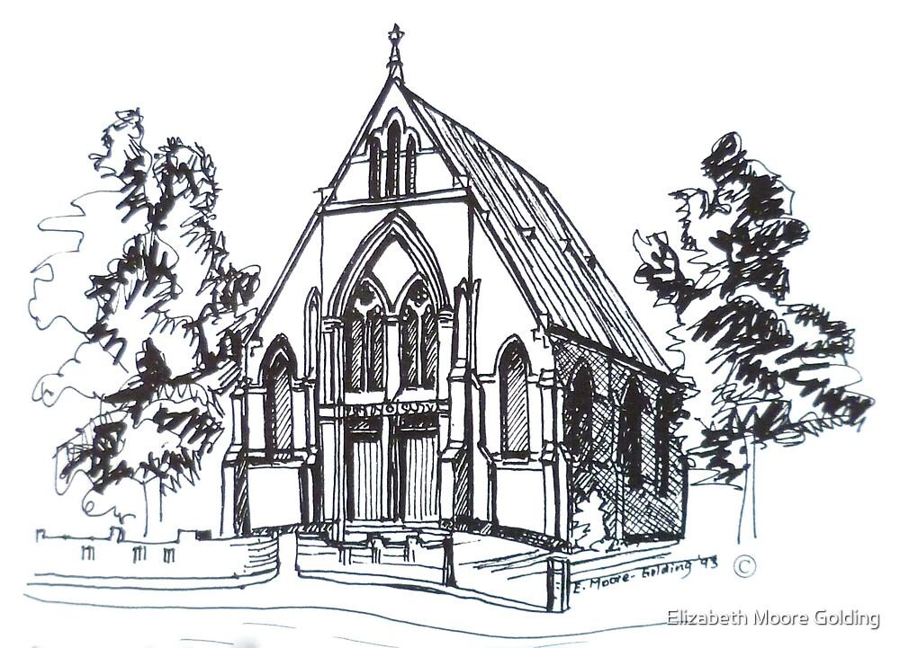 Christ Church Kensington Melbourne. Elizabeth Moore Goldingⓒ by Elizabeth Moore Golding