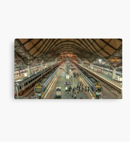 Southern Cross Station Tiny Town Canvas Print