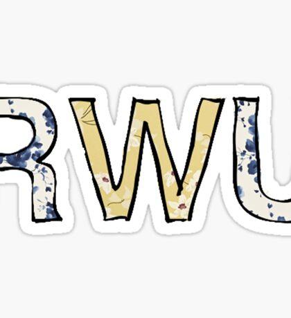RWU Flowers Sticker