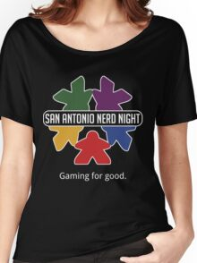 San Antonio Nerd Night - Color Flat Women's Relaxed Fit T-Shirt
