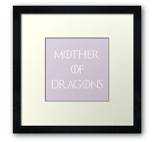 Pastel Mother of Dragons Framed Print