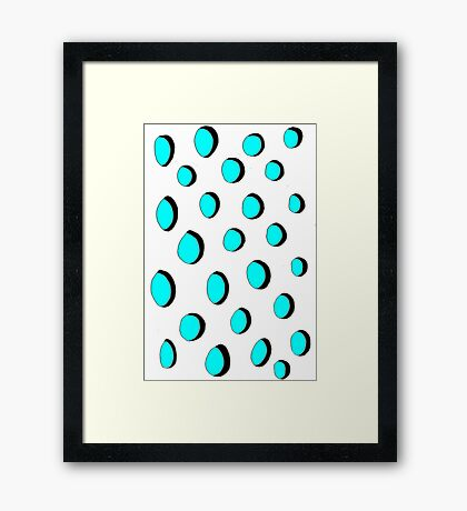 Button holes Framed Print