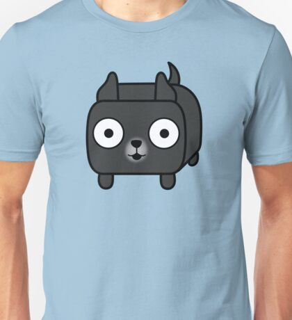 Pit Bull Loaf - Black Pitbull with Cropped Ears Unisex T-Shirt