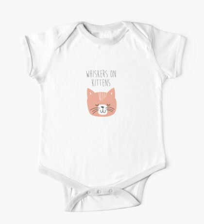 sound of music whiskers on kittens One Piece - Short Sleeve
