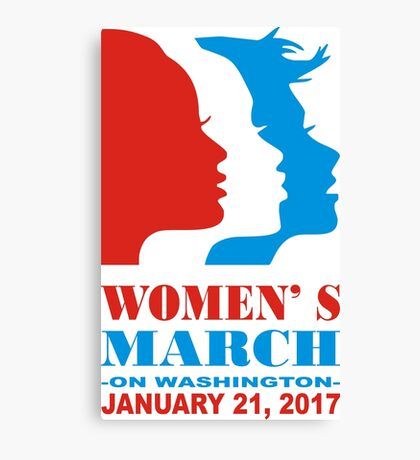 womens march Canvas Print