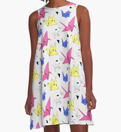 Origami Crane A-Line Dress