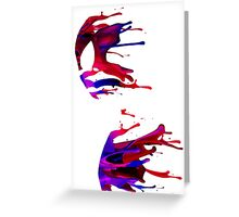 spiderman stain Greeting Card