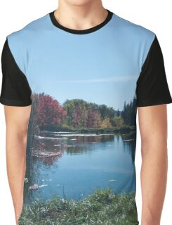 Fall Landscape Photography Print Graphic T-Shirt