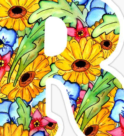 "Floral Letters ""R"" Sticker"