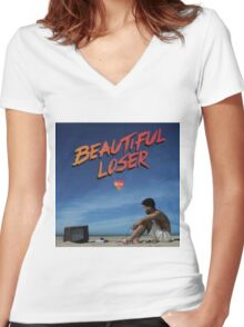 Kyle Beautiful Loser Alternative Album Cover  Women's Fitted V-Neck T-Shirt