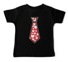 Valentines Day Tie Shirt with Hearts - Kids and Adult Sizes Baby Tee