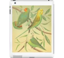 vintage finch and sparrow iPad Case/Skin