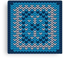 Knitted Decorative Background Canvas Print