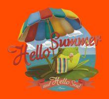 Hello summer and hello sea! Kids Tee