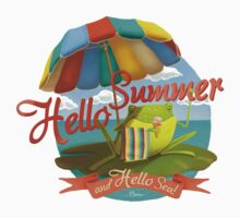 Hello summer and hello sea! Kids Tee