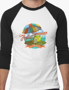 Hello summer and hello sea! Men's Baseball ¾ T-Shirt