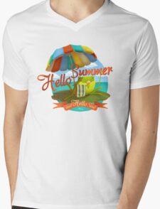 Hello summer and hello sea! Mens V-Neck T-Shirt
