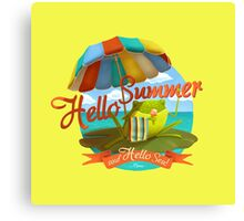 Hello summer and hello sea! Canvas Print