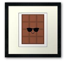 Chocolate Emoji Cool Sunglasses Framed Print