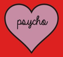 Pink Psycho Heart Kids Clothes