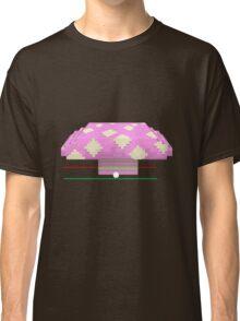 Glitch furniture desk pink 8bit mushroom desk Classic T-Shirt