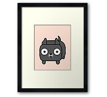 Pit Bull Loaf - Blue Pitbull with Cropped Ears Framed Print