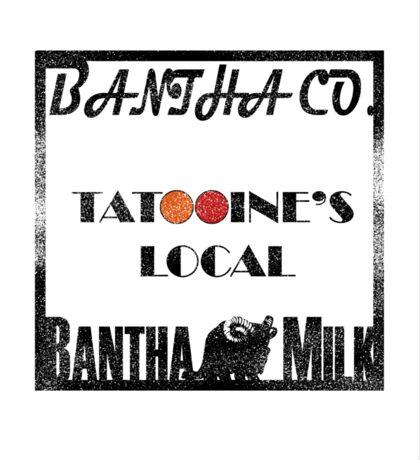 Star Wars Bantha Milk Tatooine Minimal  Sticker