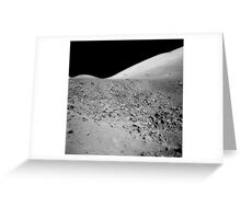 The lunar surface. Greeting Card