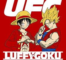 Ultimate Fighter Cartoon - Luffy VS Goku by badboy7