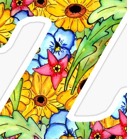 "Floral Letters ""Z"" Sticker"