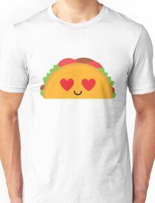 Taco Emoji Heart and Love Eye Unisex T-Shirt