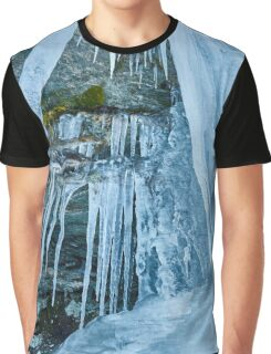 Icicles from a frozen waterfall Graphic T-Shirt