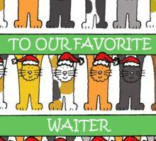 Happy Holidays Favorite Waiter Sticker