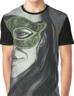 Brimming with Life - Lilla in a Green Mask Graphic T-Shirt