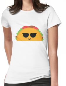 Taco Emoji Cool Sunglasses Womens Fitted T-Shirt