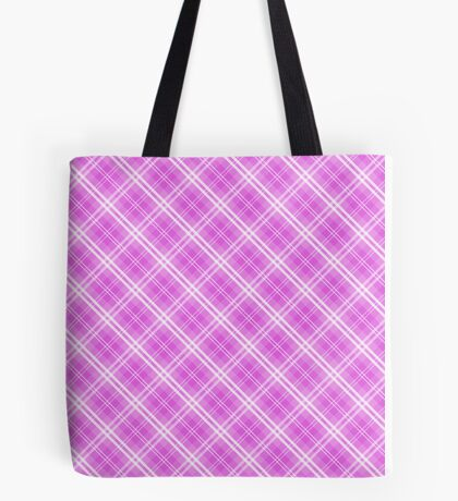 Lilac Bouquet Valentine Sweetheart Tartan Plaid Check Tote Bag