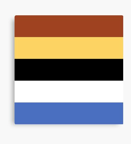 Woody Color Pallet Canvas Print