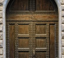 Studded Timber Double Doors Sticker