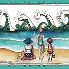 At the beach with Mum by Jenny Wood