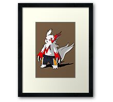 Zangoose in Haikyuu shorts Framed Print