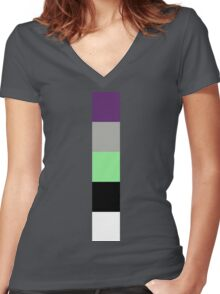 Buzz Color Pallet Women's Fitted V-Neck T-Shirt