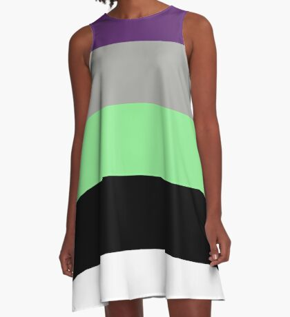 Buzz Color Pallet A-Line Dress