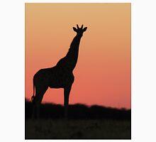 Giraffe Silhouette - Pink African Sunset Unisex T-Shirt