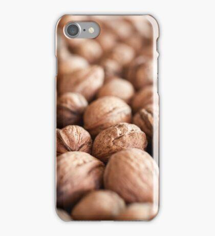 Closeup of many walnuts iPhone Case/Skin