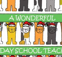 Sunday School Teacher Happy Christmas Sticker